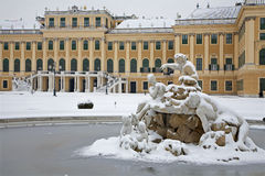 Vienna - Schonbrunn palace in winter Royalty Free Stock Photos