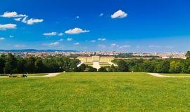 Vienna from Schonbrunn Park Stock Photos