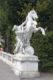 Vienna. Sculpture on the area of Maria Theresa Stock Images