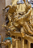 Vienna -  Sculpture of Martyrium of st. John the Nepomuk on side altar of baroque st. Peter church Royalty Free Stock Photos