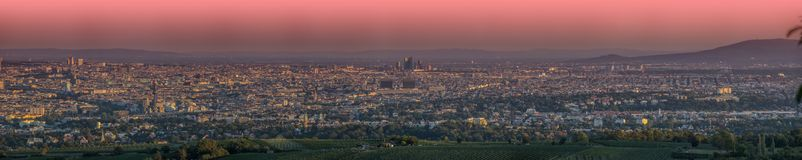 Free Vienna Seen From The Hills Stock Photo - 99001110