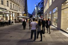 Vienna - Karnter Strasse Royalty Free Stock Photography
