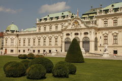 Vienna sightseeing: Belvedere Palace Royalty Free Stock Image
