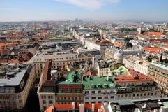 Vienna Skyline. From St Stephens DOM Tower stock photo