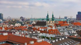 Vienna skyline, Austria. Aerial view of Vienna. Austria. Vienna Wien is the capital and largest city of Austria, and one of the 9 royalty free stock image