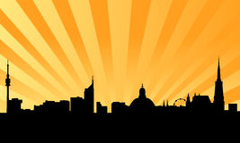 Vienna skyline with background Stock Images