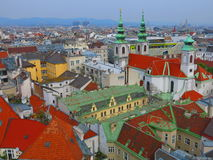 Vienna skyline from Haus des Meeres Royalty Free Stock Photos