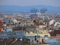 Vienna skyline and Vienna General Hospital Royalty Free Stock Photo