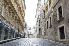 Vienna small street Autria Stock Photo