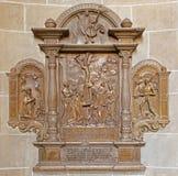 Vienna - sollievo di pietra in chiesa Fotografia Stock Libera da Diritti