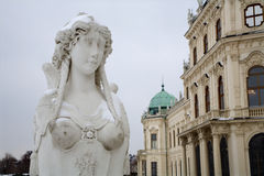 Vienna- sphinx by belvedere palace Stock Photos
