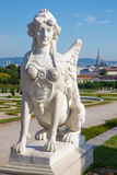 Vienna - sphinx for Belvedere palace in morning Stock Photos
