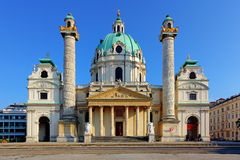 Vienna - St. Charles's Church Royalty Free Stock Images