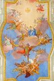 Vienna - St Mary nel cielo nella chiesa della st Annes Immagine Stock Libera da Diritti