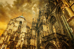 Vienna - st. Stephen cathedral or Staphensdom Stock Images