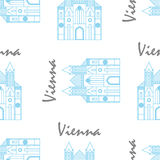Vienna St Stephens Cathedral fabric pattern Royalty Free Stock Image