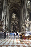 Vienna - st.Stephens cathedral - interior Royalty Free Stock Photo