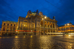 Vienna State Opera House at night Royalty Free Stock Photos