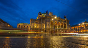 Vienna State Opera House at night, Austria Royalty Free Stock Images