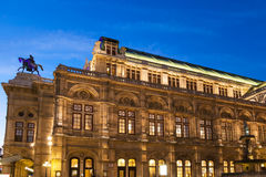 Vienna State Opera House from Ringstrasse in night Stock Images