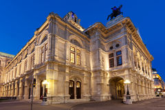 Vienna State Opera at night Stock Images