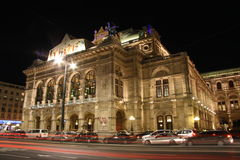 Vienna State Opera at night Royalty Free Stock Photo