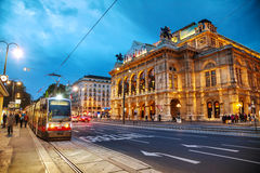 Vienna State Opera at night Stock Image