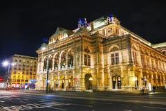 Vienna State Opera at night Royalty Free Stock Photography