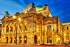 Vienna State Opera is an opera house. Royalty Free Stock Photography