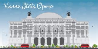 Vienna State Opera. Vector illustration. Stock Photography