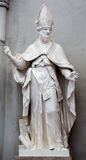 Vienna - statua di St Augustine il grande insegnante della chiesa ad ovest nella chiesa di Augustine o di Augustinerkirche Immagini Stock Libere da Diritti