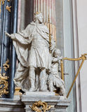 Vienna - Statue of king david from baroque church Maria Treu. Stock Image
