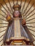 Vienna - Statue of little Jesus as Pantokrator Stock Photo