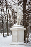 Vienna - Statue of Meleager by W. Beyer in gardens of Schonbrunn palace in winter. Stock Photography