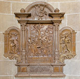 Vienna - Stone relief in Church Royalty Free Stock Photo
