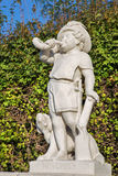 Vienna - symbolic sculpture of november month in the gardens of Belvedere palace. Vienna - The symbolic sculpture of november month in the gardens of Belvedere Royalty Free Stock Photography