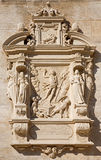 Vienna - Tomb stone with the resurrection of Jesus relief from west facade of monastery church in Klosterneuburg Stock Images