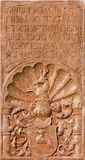 Vienna - Tomb stone from west facade of monastery church in Klosterneuburg Stock Photo