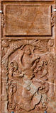 Vienna - Tomb stone from west facade of monastery church in Klosterneuburg Stock Images