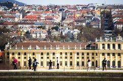 Vienna top view Stock Photo