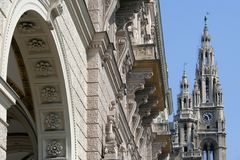 Vienna town hall Royalty Free Stock Image