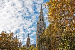 Vienna Town Hall In Autumn Stock Images