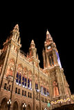 Vienna Town Hall at Christmas. Night view Royalty Free Stock Photography