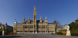 Vienna Town Hall Panorama. The famous old town hall in Vienna, Austria Stock Image