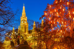 Vienna town hall and park Stock Photography