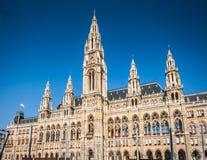 Vienna town hall at sunrise, Austria Stock Photos