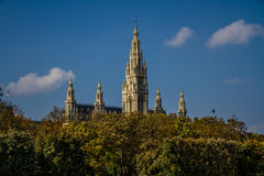 Vienna Townhall (Rathaus) towers - Vienna, Austria Stock Images