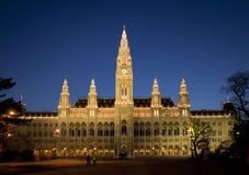 Vienna, Townhall. Viennas beautiful townhall at sunset Stock Images