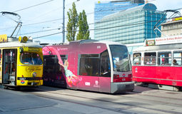 Vienna trams Royalty Free Stock Photo