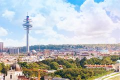 Vienna TV tower cityscape Royalty Free Stock Photography